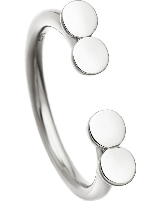 Astley Clarke | Metallic Stilla Double Disc Sterling Silver Ring | Lyst