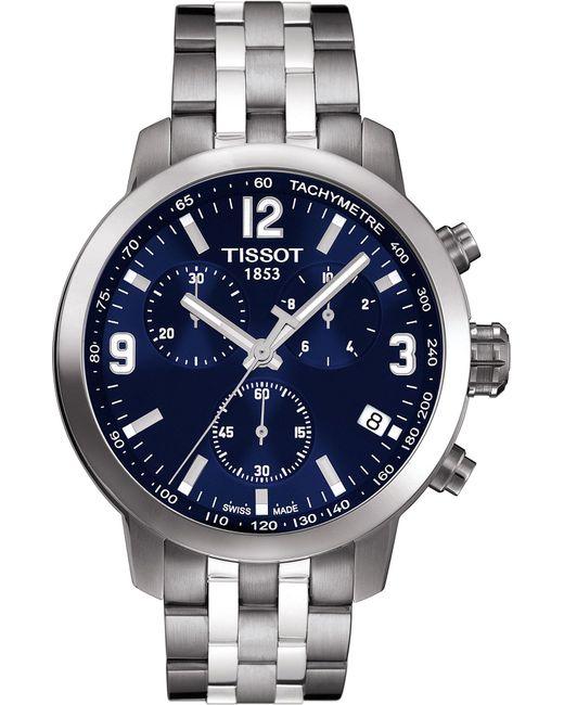 Tissot | Blue Prc200 Chronograph Bracelet Watch for Men | Lyst