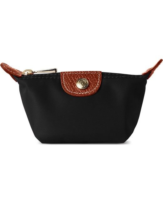 Longchamp - Black Le Pliage Small Coin Purse In - For Women - Lyst