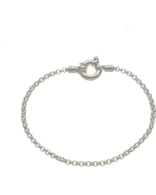 Links of London | Metallic Mini Belcher Sterling Silver Bracelet | Lyst