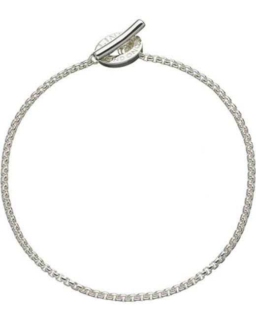 Links of London | Metallic Sterling Silver Box Belcher Bracelet | Lyst