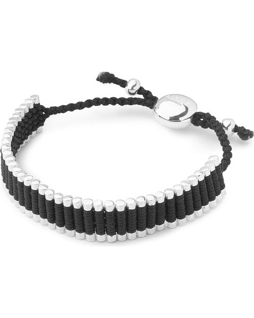 Links of London | Metallic Friendship Bracelet Black | Lyst