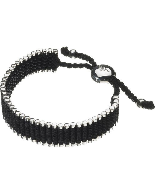 Links of London | Wide Friendship Bracelet - Black | Lyst