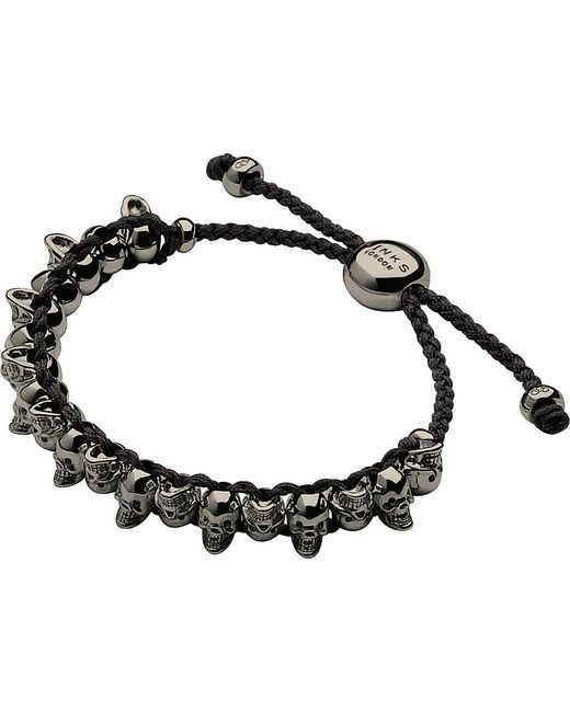 Links of London | Metallic Skull Sterling Silver Friendship Bracelet | Lyst