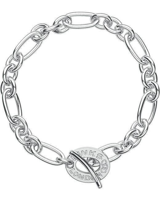 Links of London | Metallic Signature Sterling Silver Charm Bracelet | Lyst