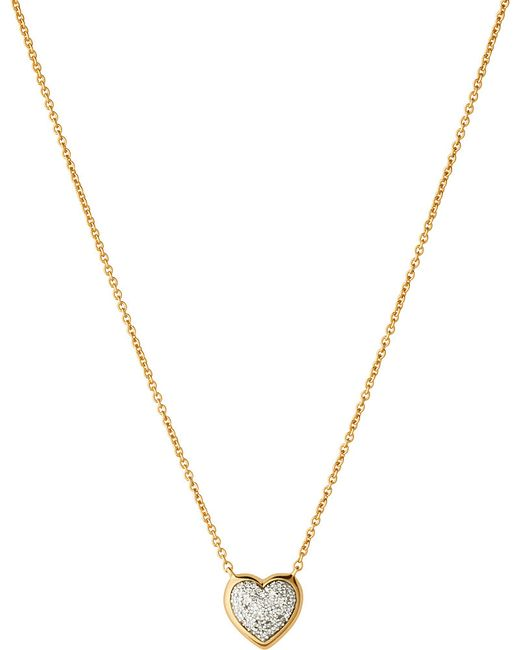 Links of London | Metallic Diamond Essentials 18ct Yellow-gold Pave Necklace | Lyst