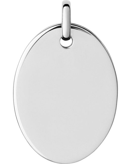 Links of London | Metallic Narrative Sterling Silver Large Oval Disc Pendant | Lyst