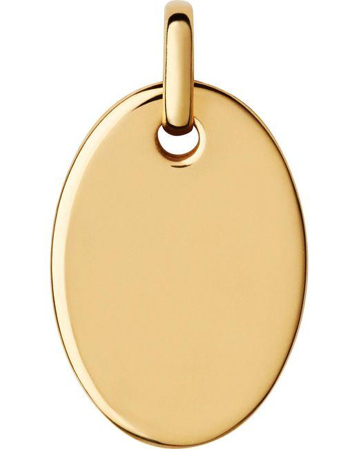 Links of London   Metallic Narrative Yellow-gold Vermeil Small Oval Disc Pendant   Lyst