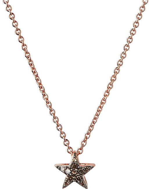 Links of London | Pink Diamond Essentials 18ct Rose Gold-vermeil And Diamond Necklace | Lyst
