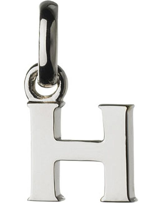 Links of London | Metallic Alphabet H Sterling Silver Charm | Lyst
