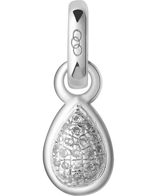 Links of London   Metallic April Sterling Silver And Diamond Mini Birthstone Charm   Lyst