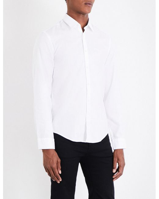 BOSS Green | White Regular-fit Cotton-oxford Shirt for Men | Lyst