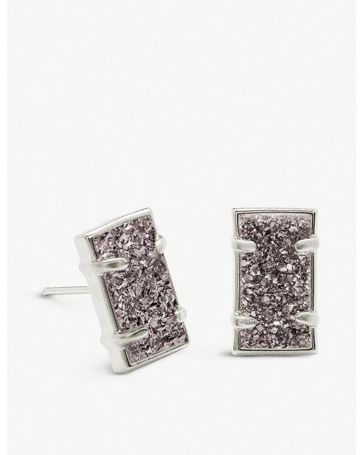 Kendra Scott - Multicolor Paola Rhodium-plated Brass And Platinum Drusy Earrings - Lyst