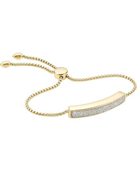 Monica Vinader - Metallic Baja Diamond Friendship Bracelet - Lyst