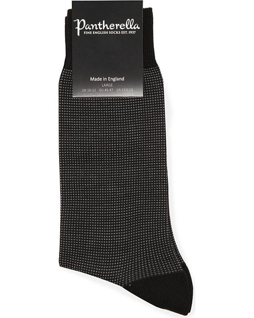Pantherella | Black Birdseye Socks for Men | Lyst
