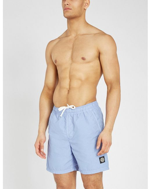 54290361c3e6e Lyst - Stone Island Relaxed-fit Swim Shorts in Blue for Men