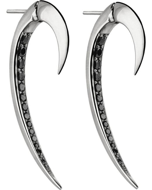 Shaun Leane - Metallic Tusk Sterling Silver Earrings - Lyst