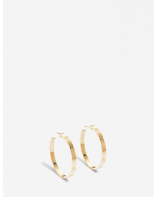 Cartier - Love 18ct Yellow-gold Earrings - Lyst