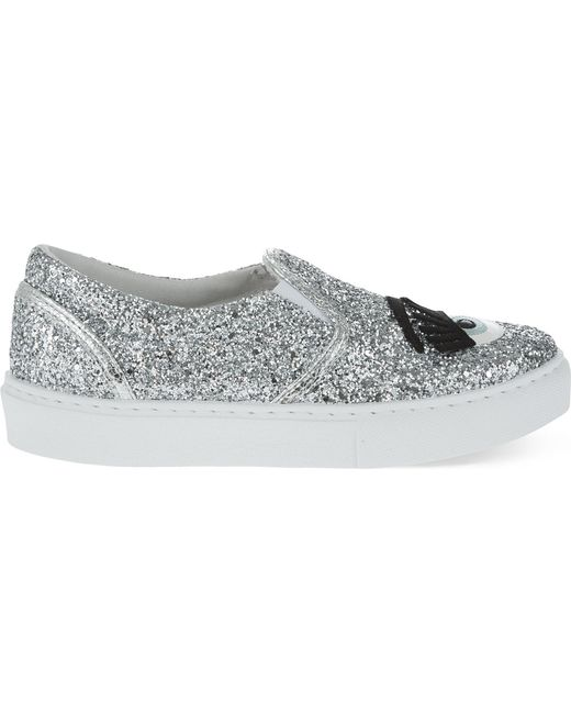 Chiara Ferragni - Metallic Flirting Sequinned Slip-On Sneakers - Lyst