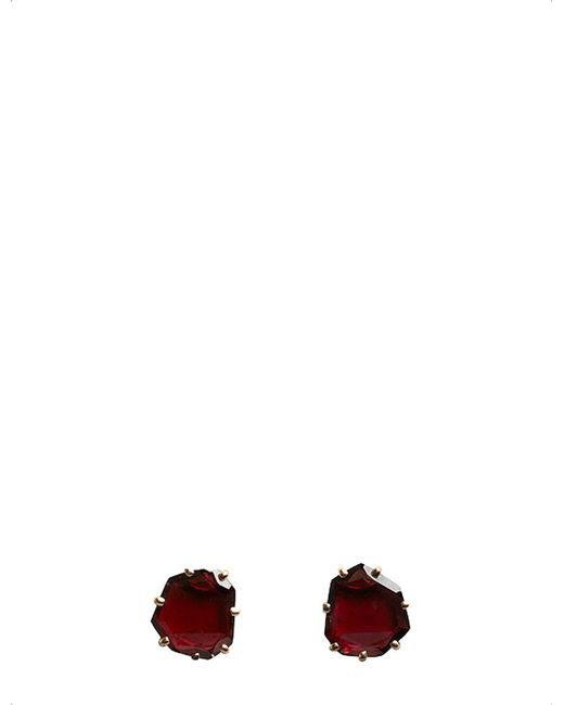Annoushka - Multicolor Shard 18ct Rose-gold And Garnet Stud Earrings - Lyst