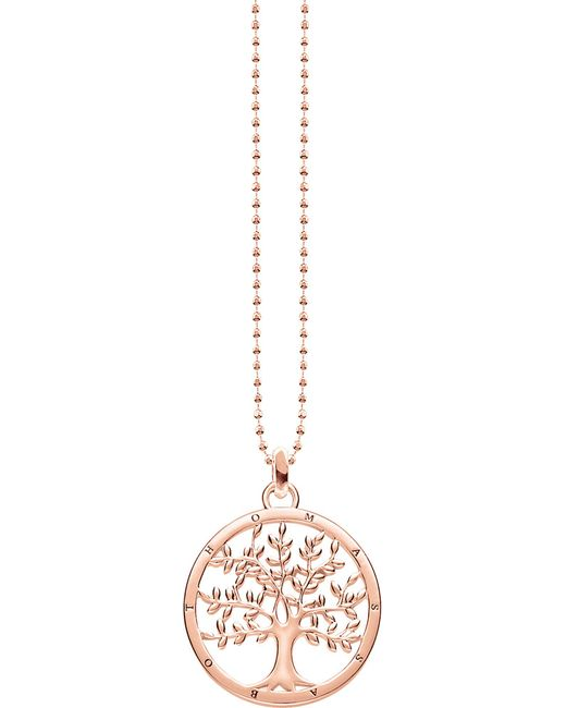 Thomas Sabo - Metallic Tree Of Love 18ct Rose Gold-plated Sterling Silver Necklace - Lyst