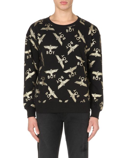 BOY London   Metallic Eagle Repeat Cotton Sweatshirt for Men   Lyst