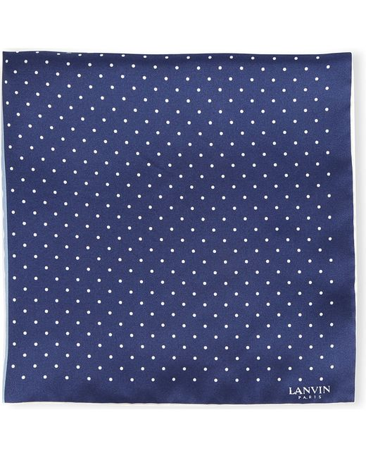 Lanvin | Blue Polka Dot Pocket Square for Men | Lyst