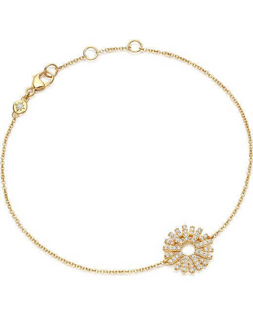 Astley Clarke - Metallic Rising Sun 14ct Yellow Gold And Diamond Bracelet - Lyst