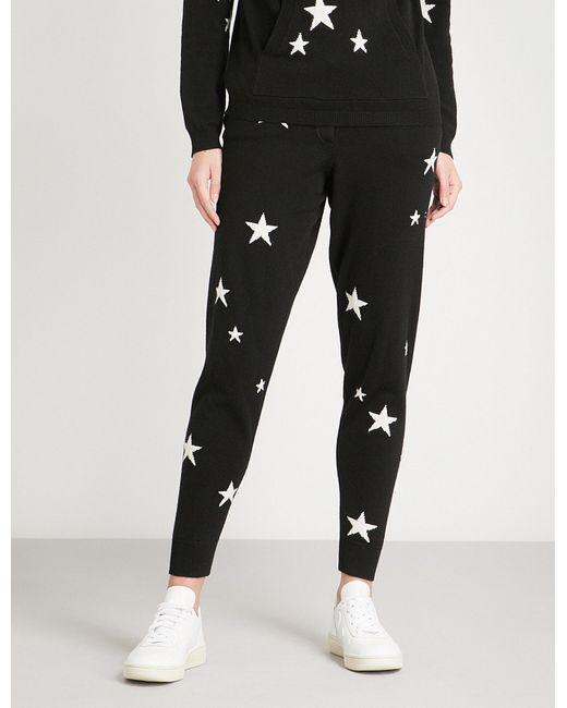 Chinti & Parker - Black Star-intarsia Cashmere Jogging Bottoms - Lyst