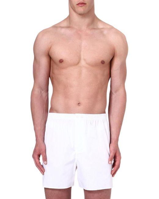 Zimmerli - White Woven Cotton Boxer Shorts for Men - Lyst