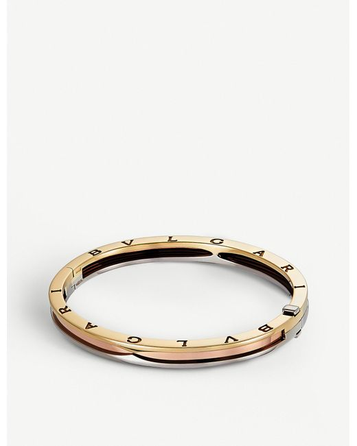BVLGARI - Metallic Tricolour B.zero1 Bangle - Lyst