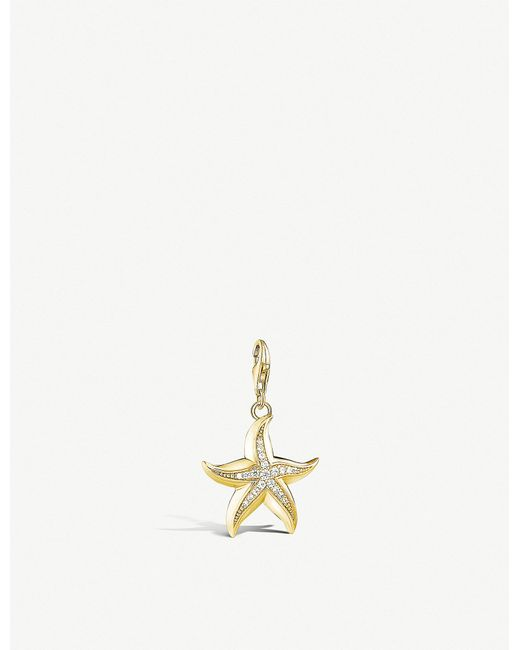 Thomas Sabo - Starfish 18ct Yellow Gold-plated Pendant - Lyst