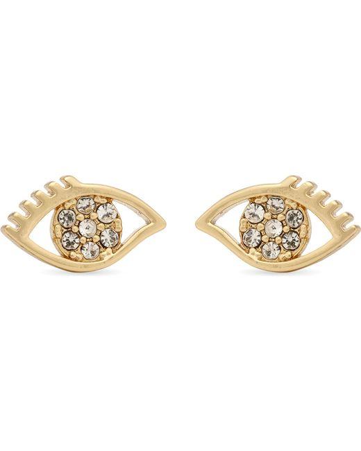 Rebecca Minkoff | Metallic Evil Eye Stud Earrings | Lyst