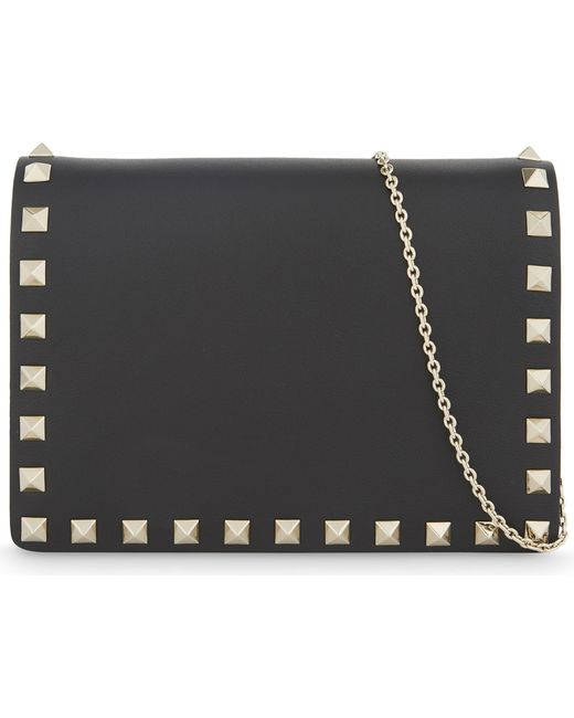 Valentino - Black Rockstud Small Leather Cross-body Bag - Lyst
