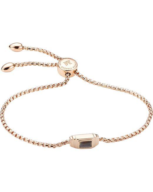 Monica Vinader - Metallic Baja Deco 18ct Rose Gold And Labradorite Bracelet - Lyst