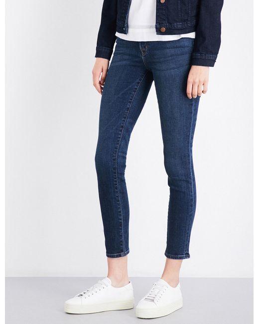 J Brand - Ladies Blue Classic Skinny Mid-rise Jeans - Lyst