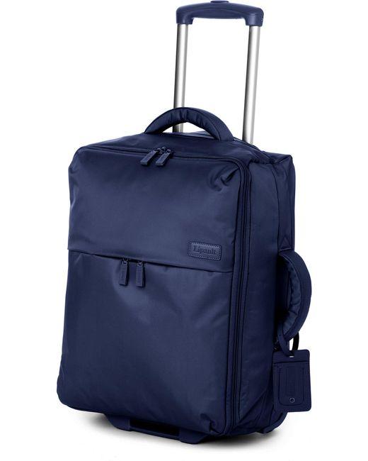 Lipault - Blue Foldable Two-wheel Cabin Suitcase 55cm for Men - Lyst