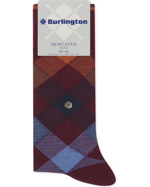 Burlington   Purple Newcastle Tartan Socks for Men   Lyst