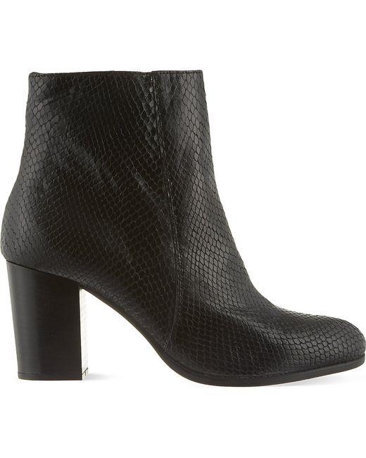 Carvela Kurt Geiger | Black Sherbert Mid Heel Ankle Boots | Lyst