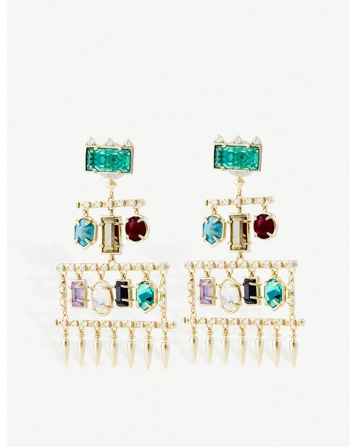 Kendra Scott - Multicolor Emmylou Plated Brass - Lyst