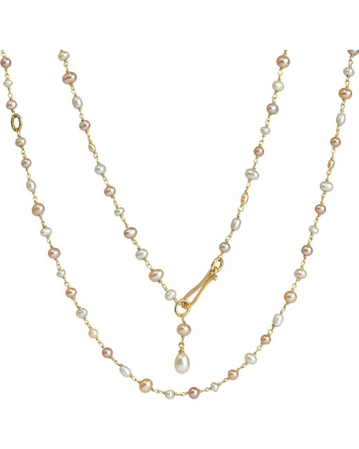 Annoushka - Metallic Seed Pearl And 18ct Yellow-gold Chain Necklace - Lyst
