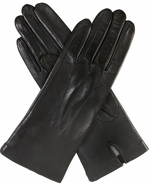 Dents | Black Classic Silk-lined Leather Gloves | Lyst