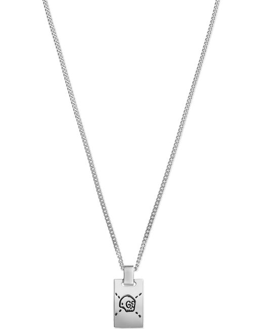 Gucci | Metallic Ghost Sterling Silver Skull Necklace | Lyst