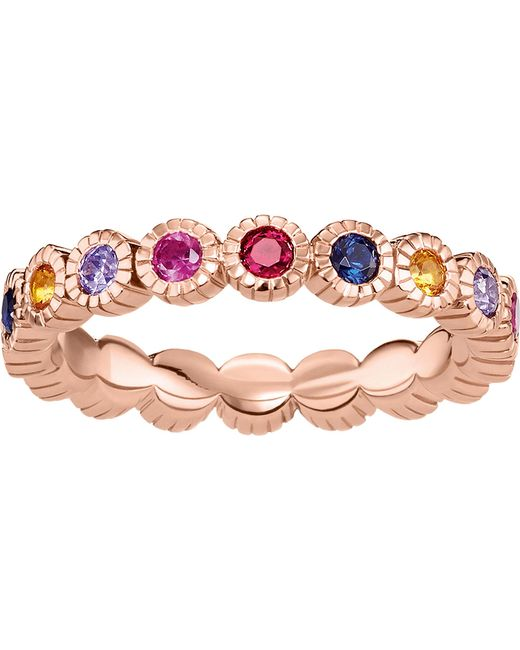 Thomas Sabo - Black Royalty Multi-stone 18ct Rose Gold-plated Ring - Lyst