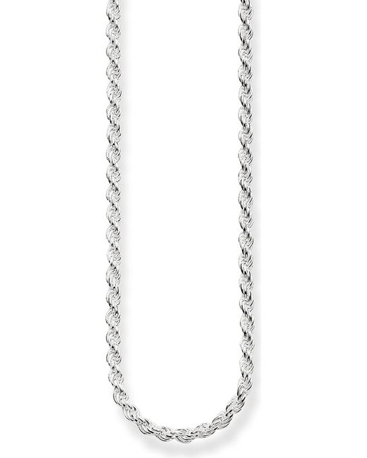Thomas Sabo - Metallic Sterling Silver Cord Chain Necklace - Lyst