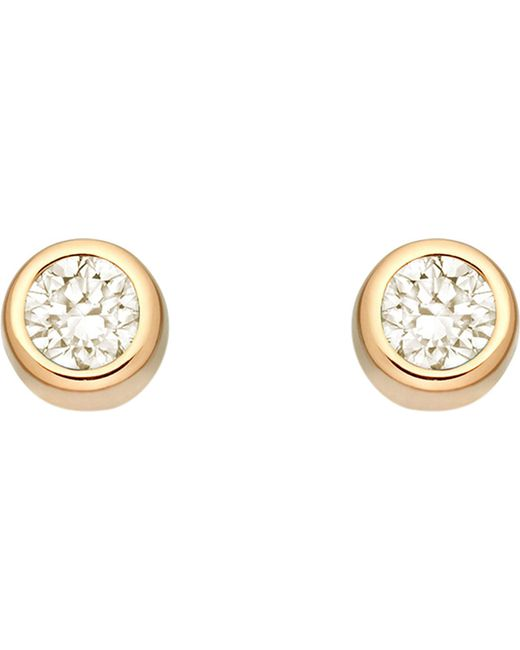 Astley Clarke - Multicolor Mini Stilla 18ct Yellow Gold-plated And Moonstone Stud Earrings - Lyst