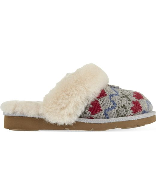 Lyst Ugg Cozy Knit Heart Slippers