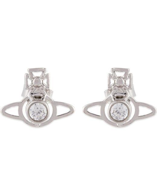 Vivienne Westwood - White Nora Orb Earrings - Lyst