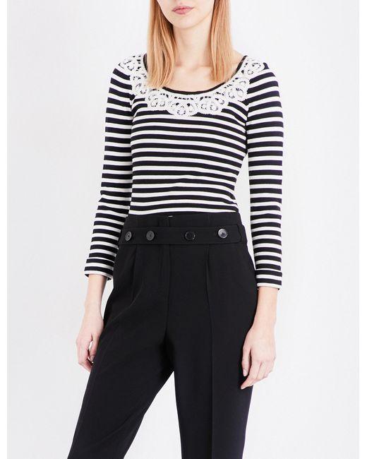 Claudie Pierlot | Black Mariniere Striped Knitted Jumper | Lyst