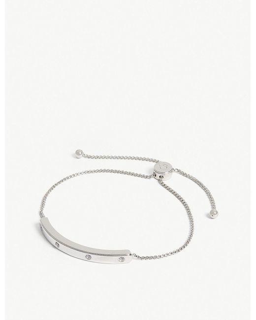 Kate Spade - Metallic Stone-embellished Slider Bracelet - Lyst